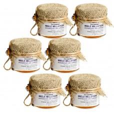 Saffron-flavored millefiori honey 30 gr  x 6 pcs