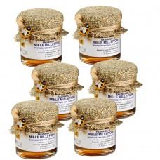 Saffron-flavored millefiori honey 50 gr x 6 pcs