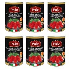 San marzano tomato - whole peeled tomatoes from the agro sarnese-nocerino dop 400gr x 6 pcs