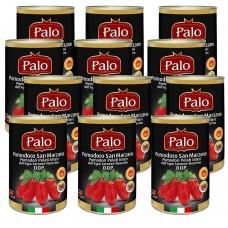 San marzano tomato - whole peeled tomatoes from the agro sarnese-nocerino dop 400 gr x 12 pcs